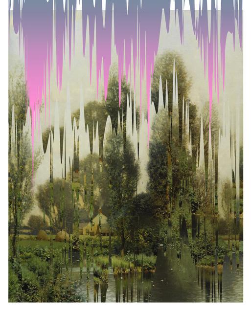 Ciler, 'Ejercicio de distorsión sobre paisaje', 2019, Painting, Acrylic on canvas, MAIA Contemporary