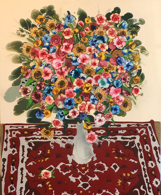 Mark Posey, 'Bouquet with Red Rug', 2014, Craig Krull Gallery