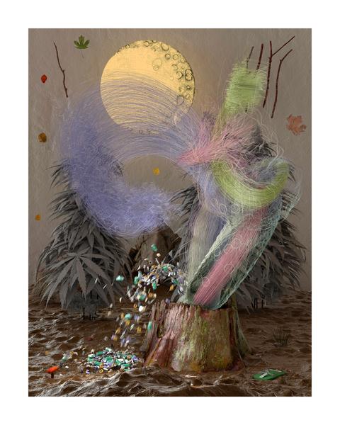 , 'Sachtes Plätzen bei Schweinesonne (tcb),' 2017, Galerie Reinhard Hauff