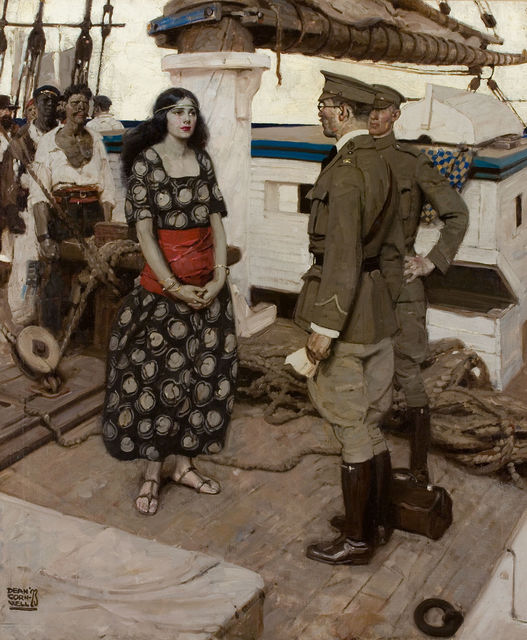 Dean Cornwell, 'Never the Twain Shall Meet, Cosmopolitan Illustration', 1923, The Illustrated Gallery