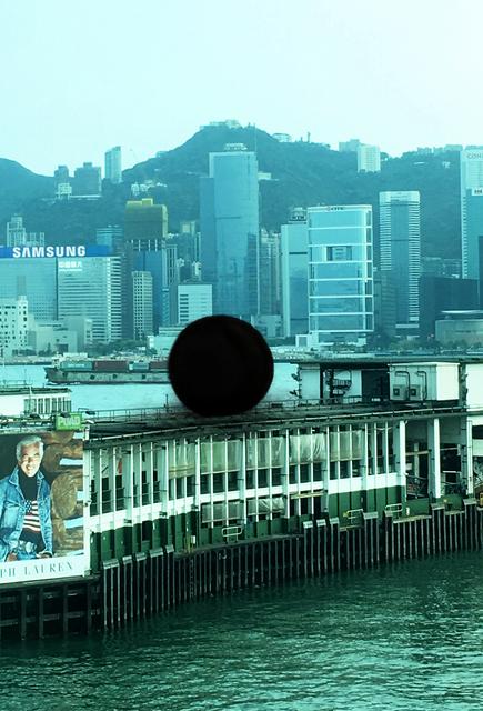 , 'Black Ball Project (Photo montage Hong Kong),' 2000-2018, Spring Workshop