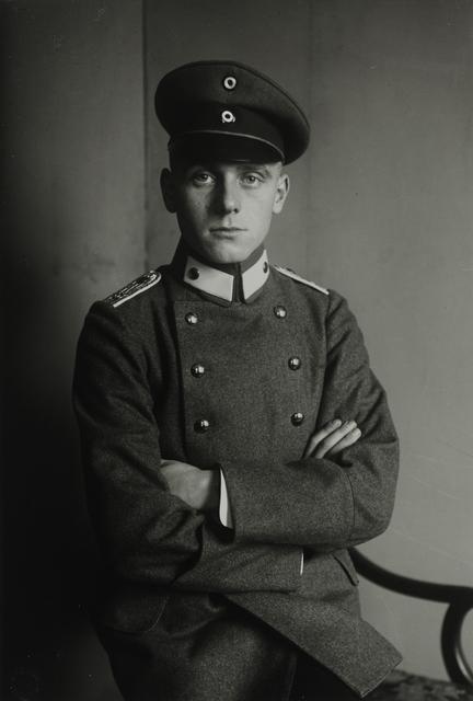 August Sander, 'Second Lieutenant, 1911-1914', Galerie Julian Sander