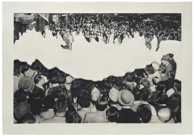 , 'Crowds with Shape of Reason Missing Example 2,' 2012, Mixografia