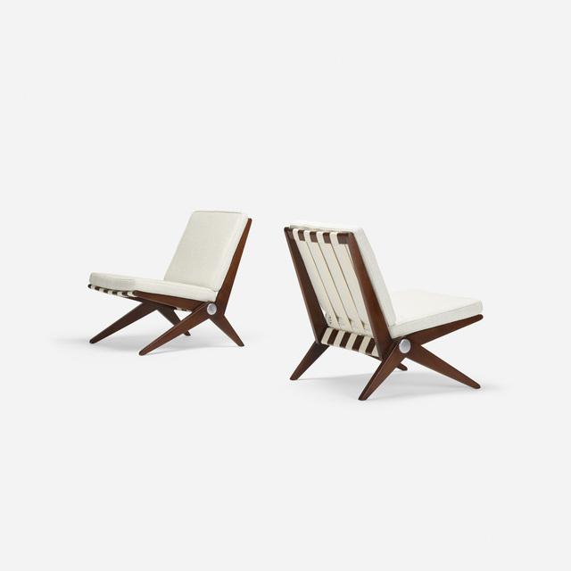 Pierre Jeanneret, 'Scissor chairs, pair', 1950, Wright
