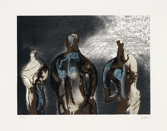 Henry Moore, 'Figures with Sky Background II,' 1981, Phillips: Evening and Day Editions