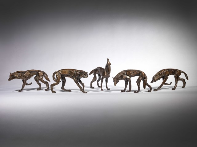 , 'Wolf pack, set of 5,' 2019, Sladmore Contemporary