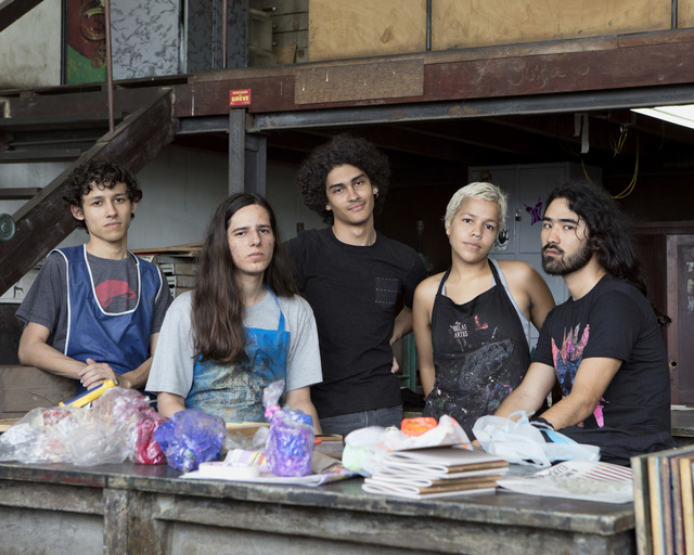 André Penteado, 'Giovanni, Lucas, Philip, Beatriz and Yuji, students of the School of Fine Arts of UFRJ (series Missão Francesa)', 2017, Zipper Galeria