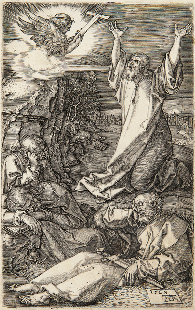 Albrecht Dürer, 'Christ on the Mount of Olives, 1508, from The Engraved Passion', 1508-13, Print, Engraving on laid paper with partial watermark, Skinner