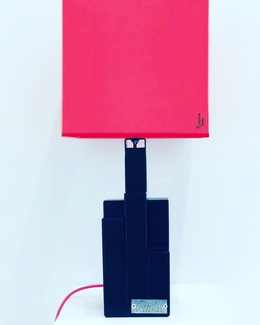 "Christophe Belliardo, 'Lamp ""Mini Building"" - Black & Square pink lampshade ', 2019, Design by Jaler"