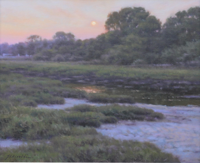 Julie C. Airoldi, 'Evening Moonrise', 2019, The Guild of Boston Artists