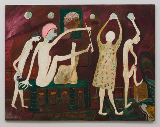 , 'Untitled (Four Figures, Red Background),' , The Good Luck Gallery