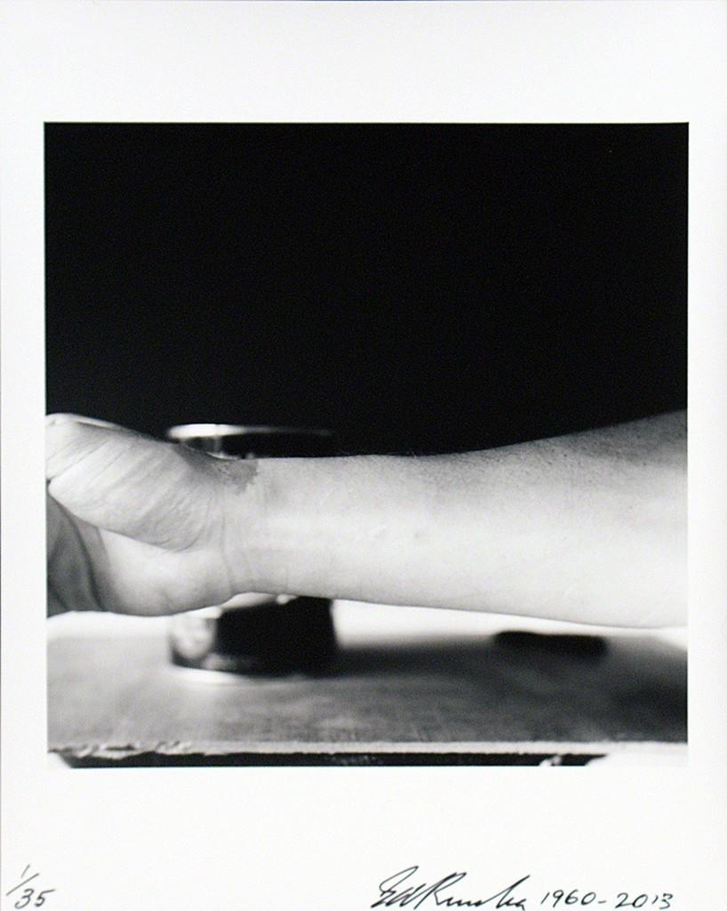 Self-Portrait of My Forearm 1960 andSelf-Portrait of My Forearm 2014