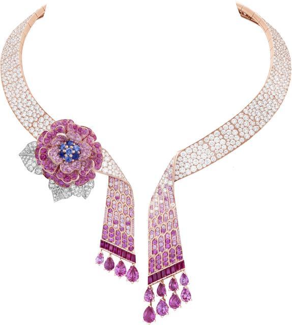 , 'Rose Capulet necklace with detachable clip. Unique piece, High Jewelry Collection,' 2019, Van Cleef & Arpels