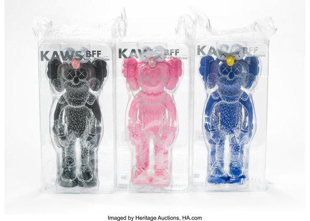 KAWS, 'BFF Companion (three works)', 2017, Heritage Auctions