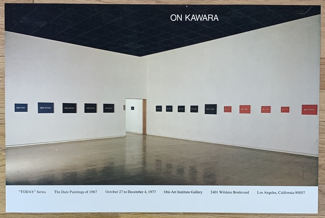 On Kawara, 'Original Vintage Exhibition Poster', 1977, Kwiat Art