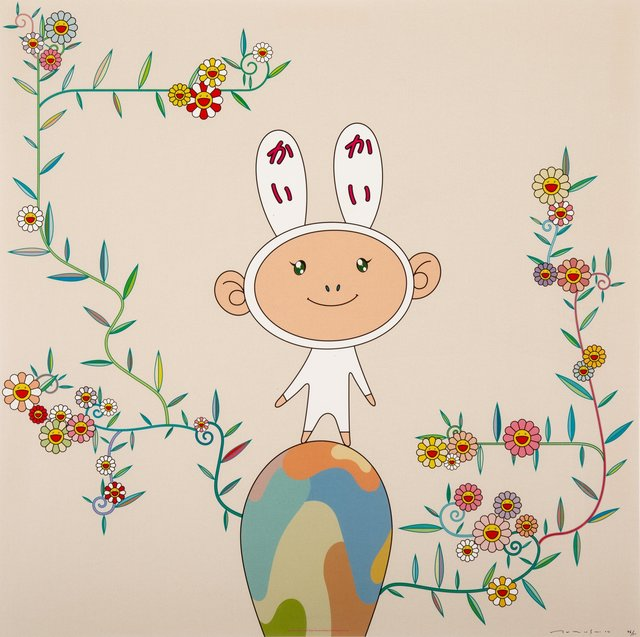 Takashi Murakami, 'Kaikai with Moss', 2003, Print, Offset lithograph in colors on smooth wove paper, Heritage Auctions