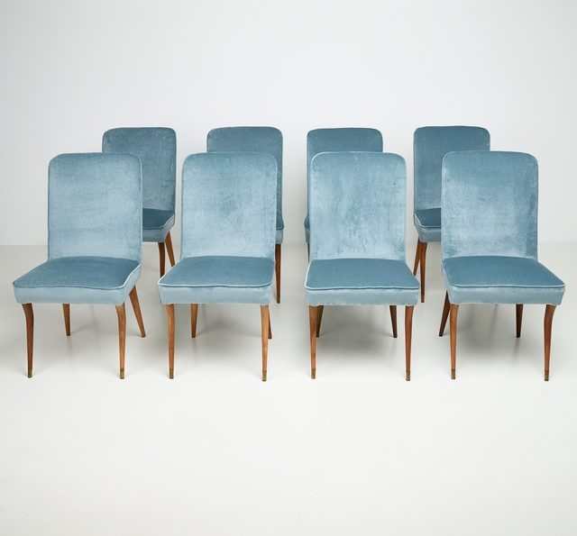 ", 'Set of 8 chairs from ""Casa Caliceti Bologna"" ,' 1949, Paradisoterrestre"