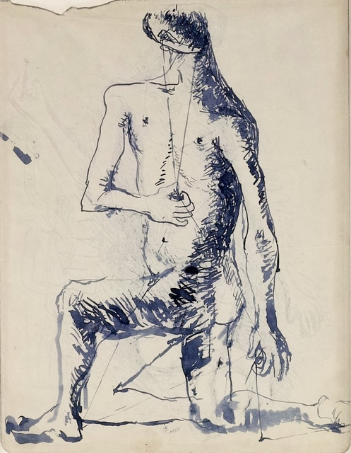 Pavel Tchelitchew, 'Studies for a Seated Male Figure (double sided)', ca. 1928, Martin du Louvre