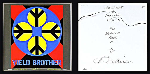 , 'YIELD BROTHER, Signed Twice, Uniquely Inscribed with Original LOVE Drawing ,' 1990, Alpha 137 Gallery