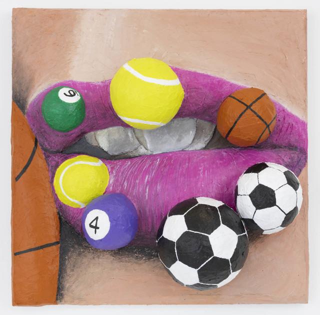 , 'Lip Balls 3,' 2018, The Hole
