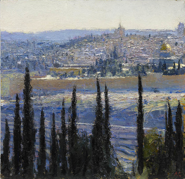, 'Al Aqsa Mosque from Mount of Olives,' 2013, John Martin Gallery