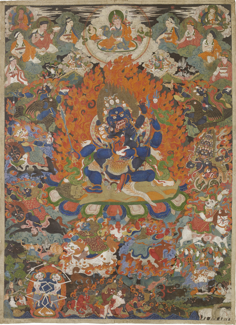 , 'Thangka of Mahakala Chaturbhuja,' 18th–19th century, Rossi & Rossi