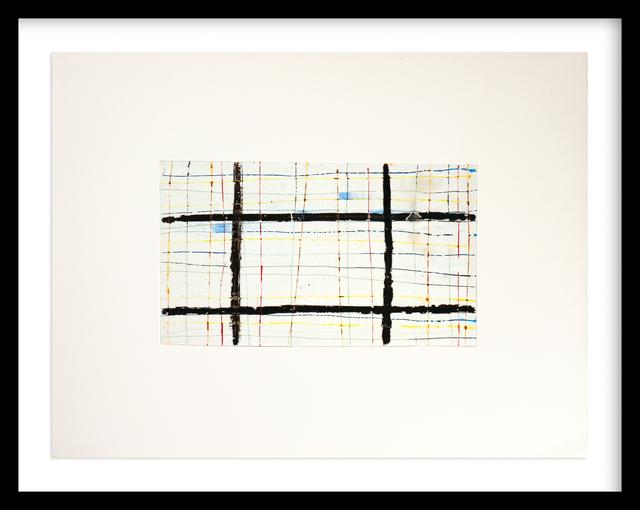 , 'Black Grid,' 2011, Newzones