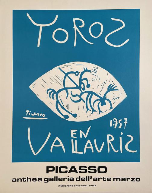 Pablo Picasso, 'Toros en Vallauris, 1957Picasso , Anthea Galleria dell'arte Marzo', 1972, David Lawrence Gallery