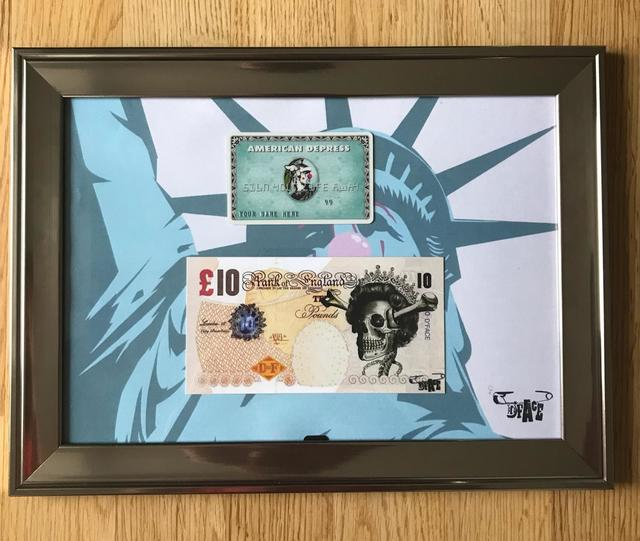 "Banksy, 'BANKSY X DFACE ""AMERICAN DEPRESS CARD SET FEATURING LADY LIBERTY"" ', 2008, Arts Limited"