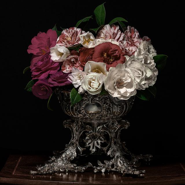 , 'Camelias in a Silver Punch Bowl,' 2018, Galerie de Bellefeuille