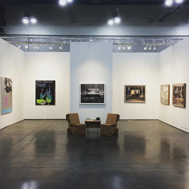 Paintings by Jack Featherly and photographic works by Rodrigo Valenzuela in booth 603.