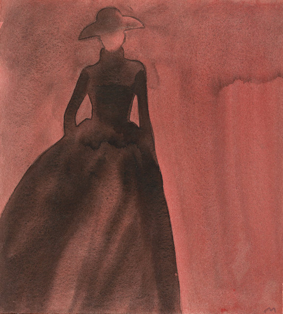 , ' Silhouette (Long skirt, hat),' 1997, CFHILL