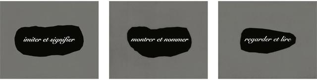 Joseph Kosuth, 'L'essence de la rhétorique est dans l'allégorie IV ', 1998, Schellmann Art