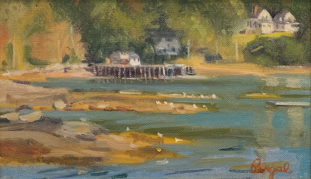 Theresa Pergal, 'Muscongus Bay (Maine)', 2019, Painting, Oil, The Guild of Boston Artists