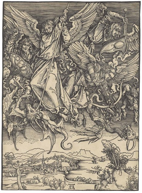 , 'Saint Michael fighting the Dragon, from: The Apocalypse (B. 72; M., Holl. 174; S.M.S. 122),' ca. 1498, Christie's Old Masters