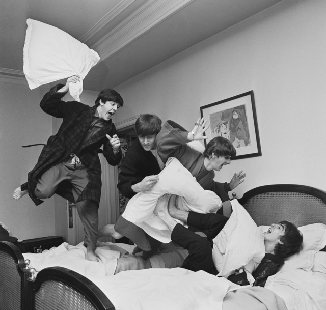, 'Beatles Pillow Fight, Paris,' 1964, Holden Luntz Gallery