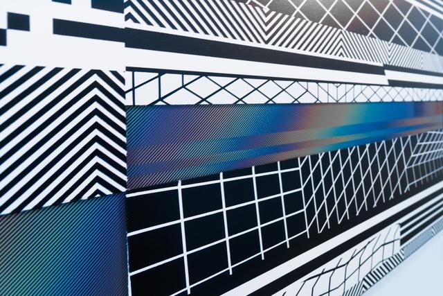 Felipe Pantone, 'Planned Iridescence 4', 2017, Mixed Media, UV Ink and Enamel on Carved Plexiglass and Aluminum, GR Gallery