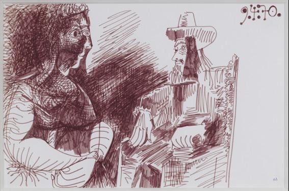 , 'Mousquetaire Assis Contemplant une Femme,' 9, Rosenfeld Gallery