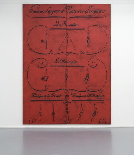, 'Untitled (Diderot, Hauteur, Largeur et Lente des Ecritures, Diptych),' 2012, Galerie Micheline Szwajcer