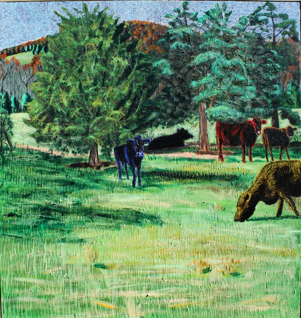 , 'Five Cows at Night ,' 2018, Les Yeux du Monde Gallery