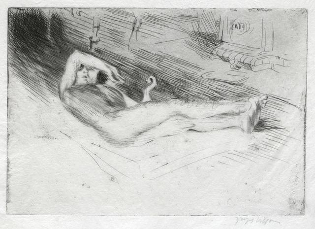 , 'Minne étendue sur le dos prè d'un poêle,' 1907, Conrad R. Graeber Fine Art