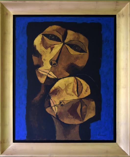 Oswaldo Guayasamín, 'Madre y Niño', 1987, Painting, Oil on Canvas, Galería Duque Arango