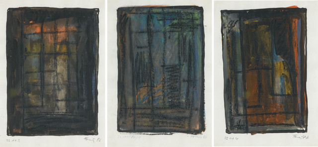 Günther Förg, 'Untitled (Three works)', 1986, Mixed Media, Gouache, watercolour and oilstick on paper, Andrea Festa Fine Art