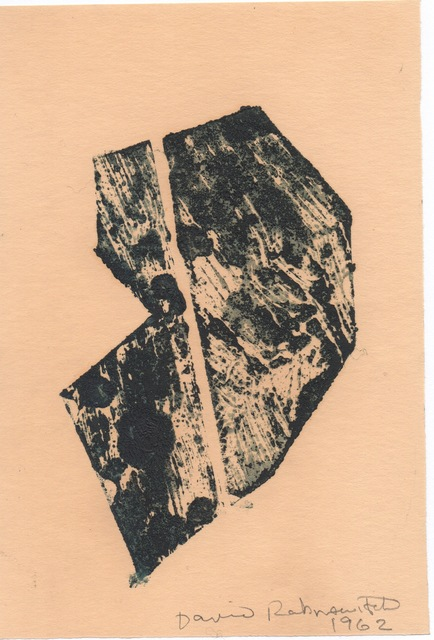David Rabinowitch, 'Antipainting', 1962, Drawing, Collage or other Work on Paper, Carved woodblock monotype on paper, Galerie Floss & Schultz