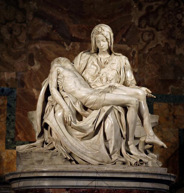 Michelangelo Buonarroti, 'Pietà', ca. 1500, Art History 101