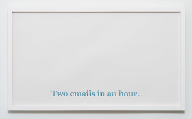 , 'Two Emails in an hour,' 2017, CES Gallery