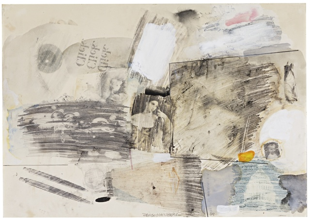 Robert Rauschenberg, 'Untitled', Drawing, Collage or other Work on Paper, Solvent transfer, watercolor and graphite on paper, Sotheby's