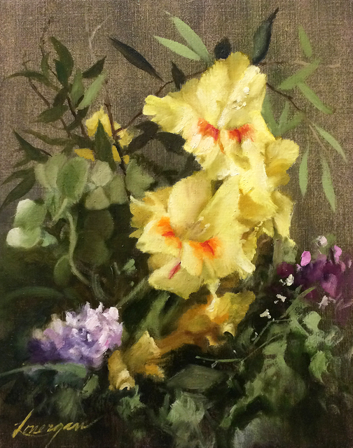 , 'Yellow Glads,' , Beverly McNeil Gallery