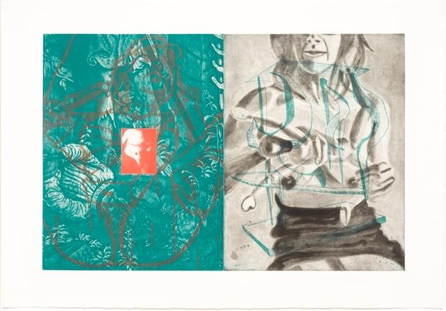 David Salle, 'Canfield Hatfield, Plate 7', 1989, Leslie Sacks Gallery