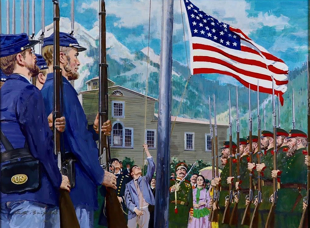 Austin Briggs, 'Old Glory Rises Over Alaska ', 20th Century, The Illustrated Gallery